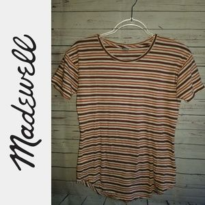 Madewell Striped Cotton Tee | Size XXS